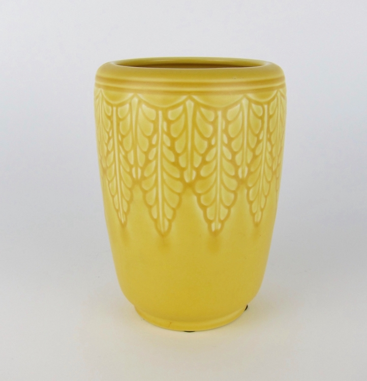 Vintage Rookwood Pottery Vase With Matte Yellow Glaze