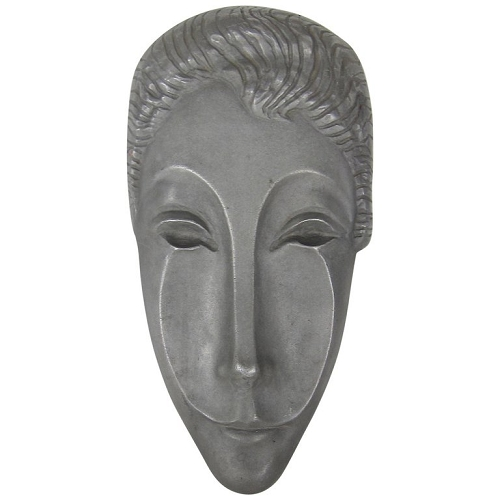 Midcentury Modern Mask Sculpture of Letitia by Evaline Clark Sellors