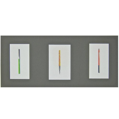 Three Original Mixed Media Design Drawings for Writing Instruments by Jerome Gould