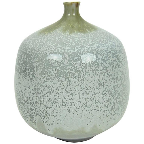 Midcentury Ostone Porcelain Weed Pot with Micro Crystalline Glaze