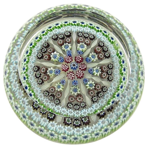 Perthshire Limited Edition Millefiori Studio Glass Paperweight, 1976-1978
