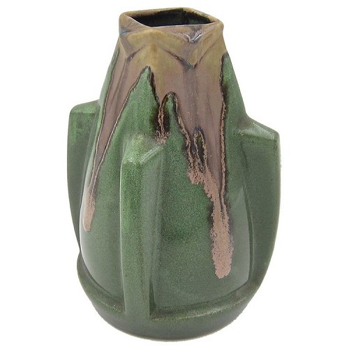 French Art Deco Vase from Rene Denert and Rene-Louis Balichon of Denbac Pottery