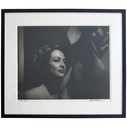 George Hurrell Signed LE Framed Photograph of Joan Crawford