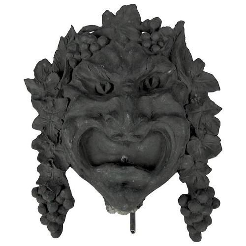 Bronze Bacchus Fountain Mask by Marie Zimmermann, Cast by Roman Bronze Works