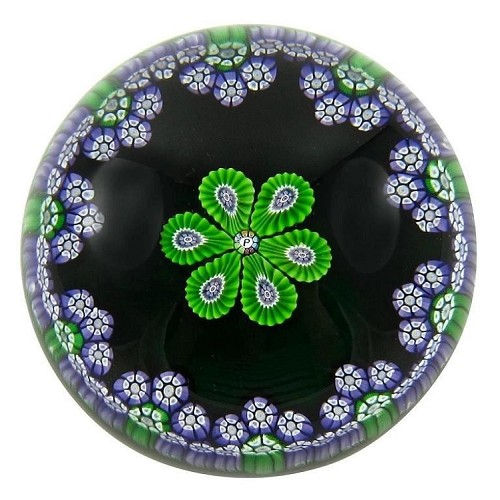Perthshire Limited Edition Millefiori Glass Paperweight from 1977 Annual Collection