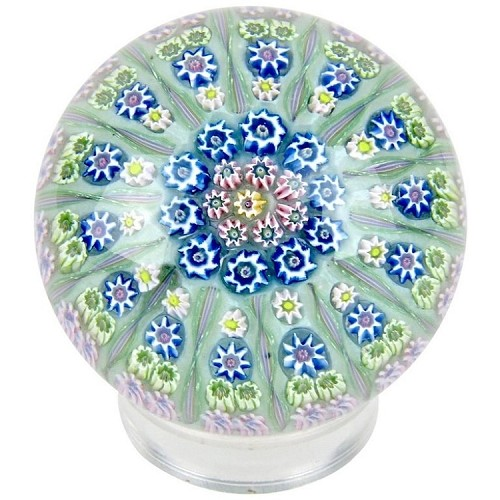 Early Perthshire Studio Glass Millefiori Paperweight