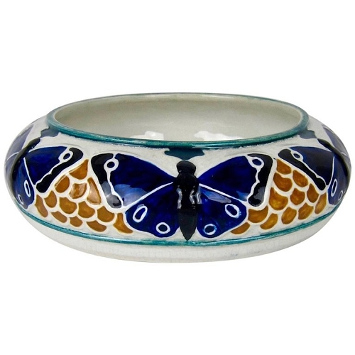 Jugendstil Butterfly Low Bowl by Alf Wallander for Rorstrand of Sweden