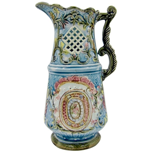 19th Century European Majolica Pitcher