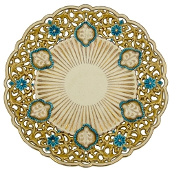 Late 19th Century Zsolnay Pecs Reticulated Polychrome Plate