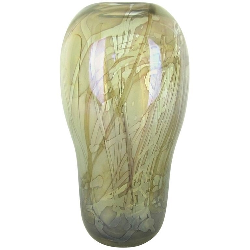 Robert William Bartlett Iridescent Studio Art Glass Vase, Signed and Numbered