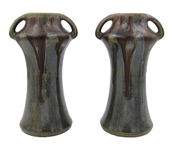 French Denbac Art Nouveau Vase Pair, circa 1930