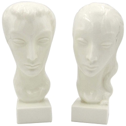 Art Deco Portrait Bust Pair by Geza de Vegh for Lenox