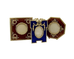 Vintage Collection of Three Enameled Picture Frames