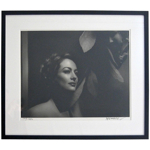 Signed George Hurrell Art Deco Photograph of Joan Crawford