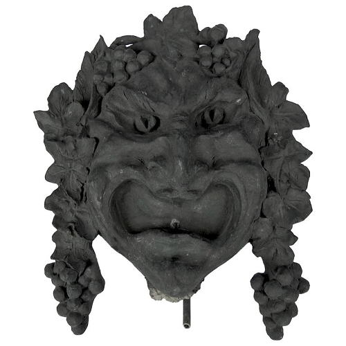 Bacchus Fountain Head Wall Sculpture by Marie Zimmermann and Roman Bronze Works