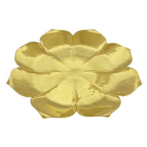 American Art Deco Gilt Lotus Tazza by Marie Zimmermann