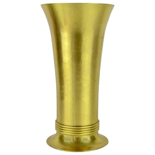 Art Deco Gilt Metal Vase by Marie Zimmermann