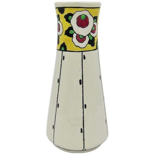 Hand Painted Art Pottery Vase from Boch Freres at La Louviere, Belgium, circa 1923