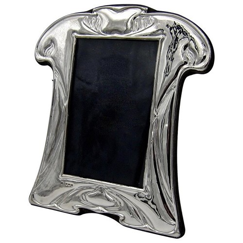 A vintage sterling silver English picture frame from Birmingham, date marked for 1985.