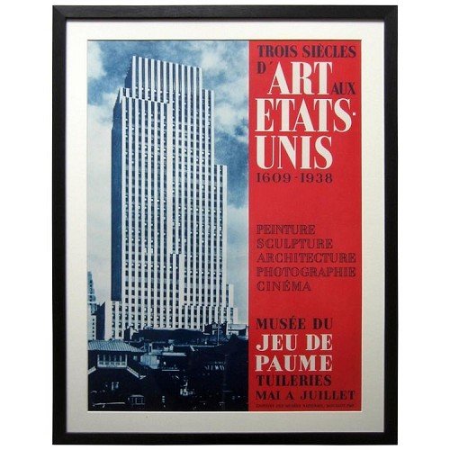 MoMA 1st International American Art Lithographic Exhibition Poster, Atelier Mourlot, 1938